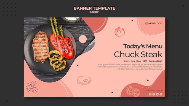 Steak banner thema