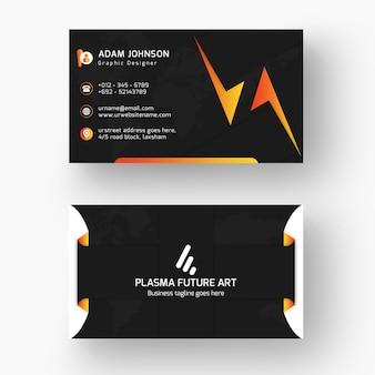 Steigungs-schwarze visitenkarte