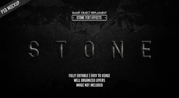 Stein-text-effekt-vorlage