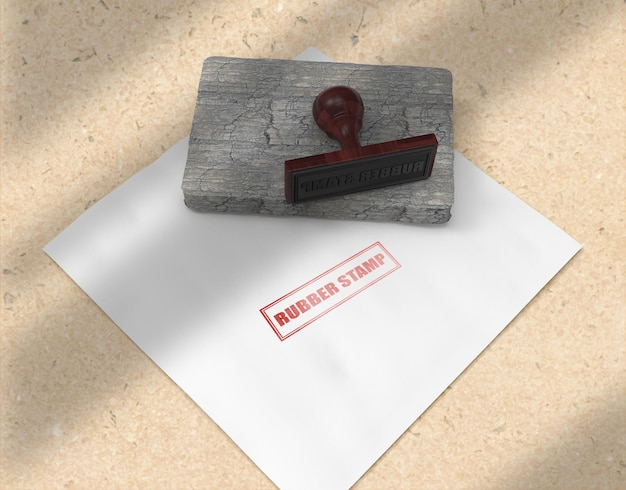 Stempel- oder stempelkissen-briefpapier-logo-mockup-design Premium PSD