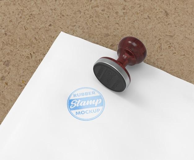 Stempel- oder stempelkissen-logo-mockup-design