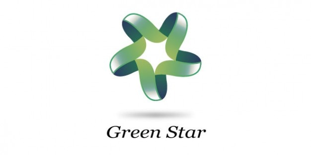 Sterne-logo-design in grün