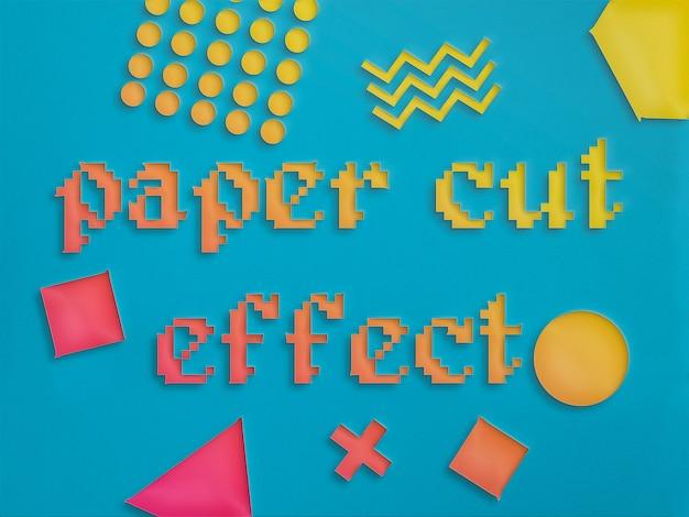 Stil der papierschnitt-effektebene