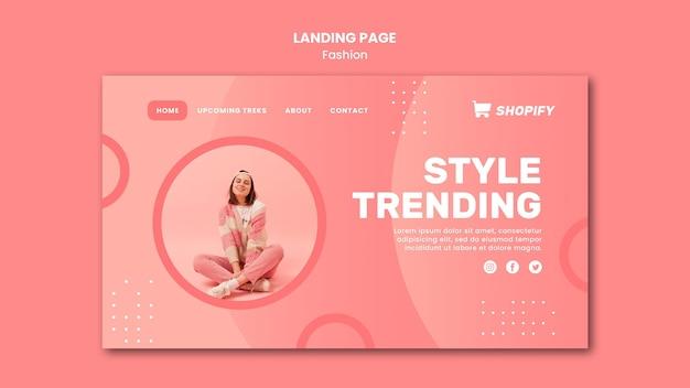Stil trend landing page vorlage
