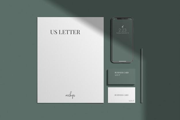 Stilvolles branding / identitätsmodell