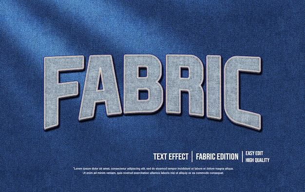 Stoff 3d-textstil-effektvorlage