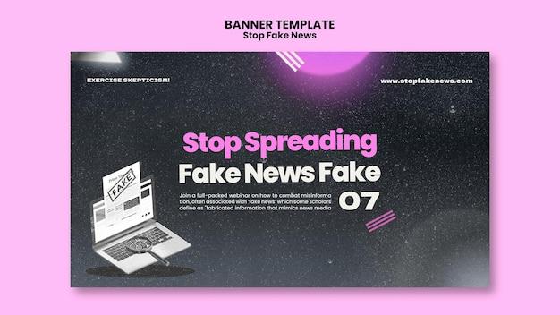 Stoppen sie die banner-vorlage für gefälschte nachrichten