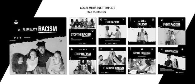 Stoppen sie die sammlung von rassismus-instagram-posts