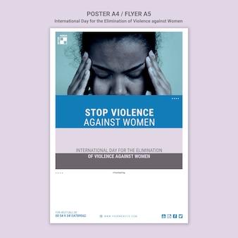 Stoppen sie gewalt gegen frauen flyer
