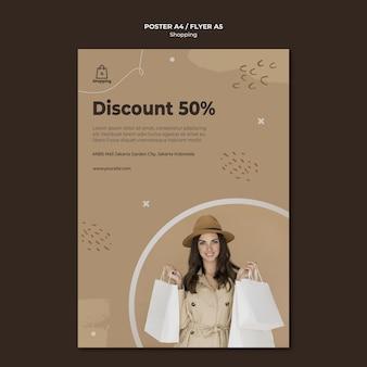 Store sale flyer vorlage