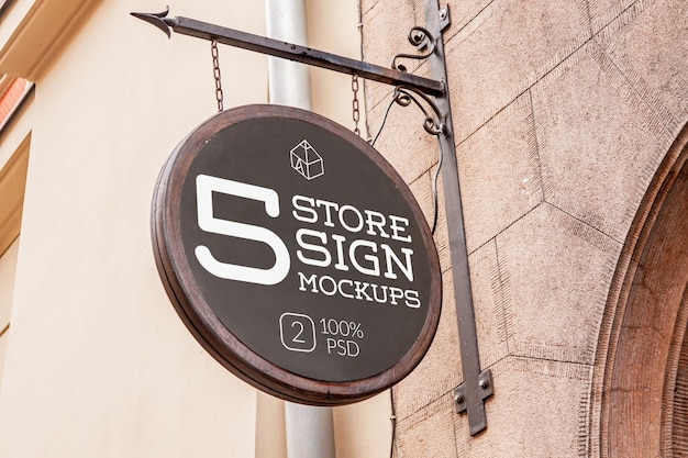 Store signs mockup