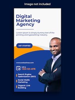 Story-vorlage für digitales marketing-instagram