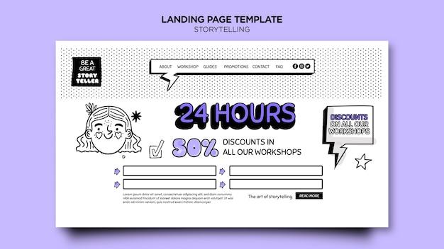 Storytelling für marketing-landingpage