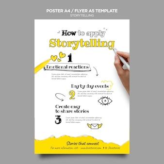 Storytelling poster vorlage
