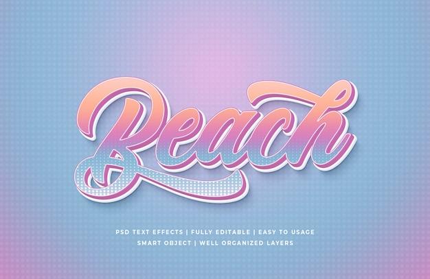 Strand 3d text style effekt