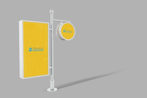 Straßenanschlagtafel-display-mockup im freien