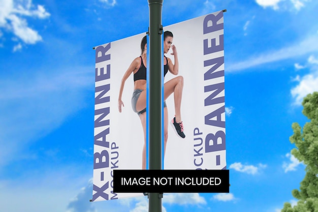 Straßenmast-banner-modell unten rechts winkelansicht