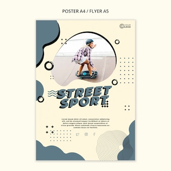 Straßensportplakatschablone