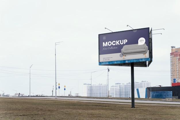 Street billboard display mock-up im freien