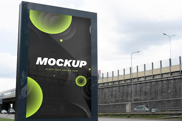 Street billboard mock-up für werbung