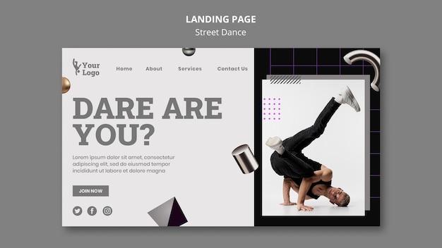 Street dance landing page vorlage