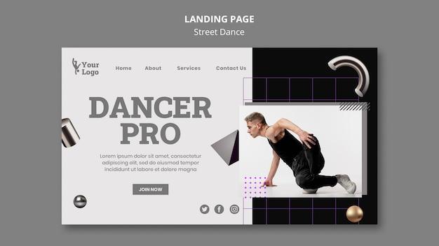 Street dance landing page