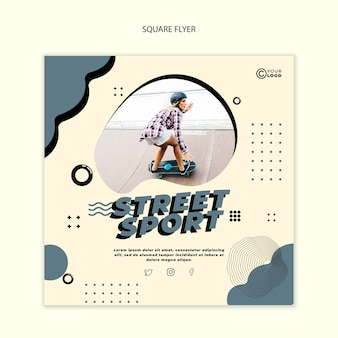 Street sport flyer vorlage