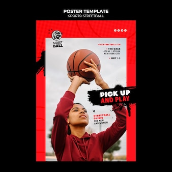 Streetball-klinik-plakatvorlage