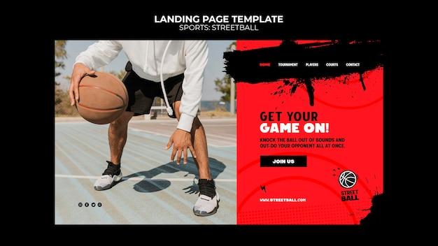 Streetball-landingpage