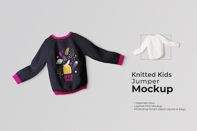 Strick-kinder-pullover-mockup
