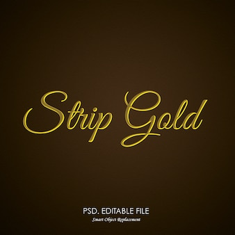 Strip gold texteffekt
