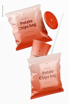 Stubby chips tasche mockup