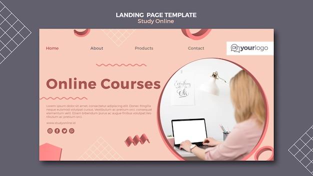 Studieren sie die online-landingpage-vorlage
