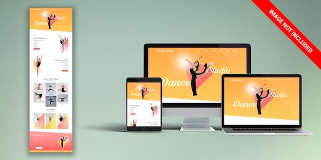 Studio dance web template psd