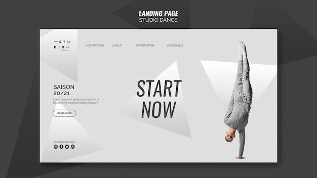 Studio tanz landingpage vorlage