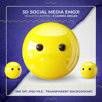 Stummes 3d-emoji isoliert