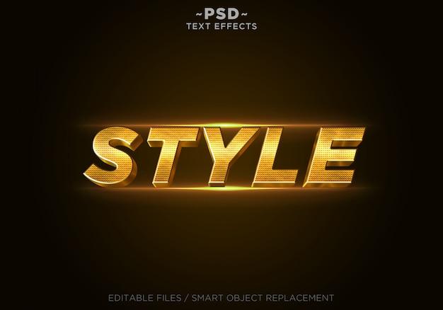 Style golden effects bearbeitbarer text