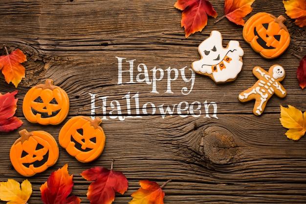 Süßes halloween behandelt feier