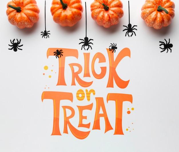 Süßes oder saures am halloween-tag