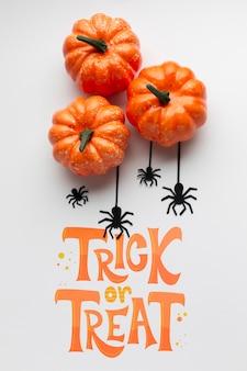 Süßes oder saures an der halloween-tagesfeier
