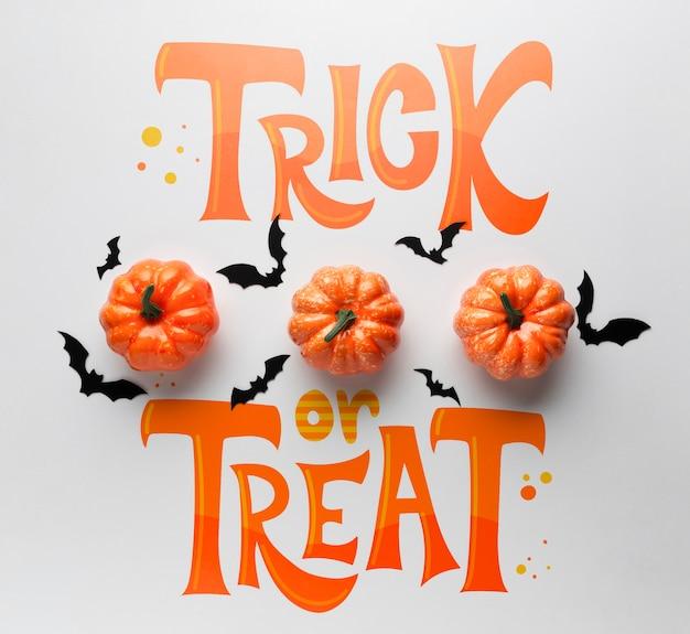 Süßes sonst gibt's saures nachricht für halloween-tag