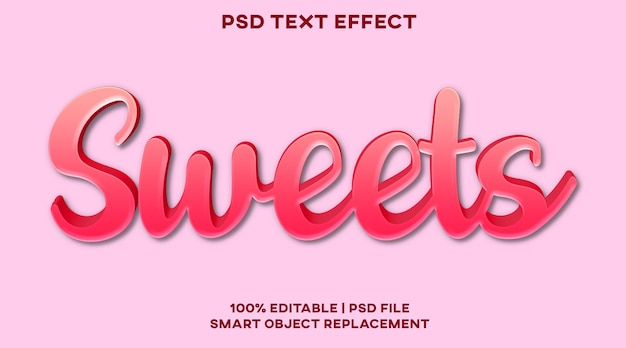 Süßigkeiten texteffekt stilvorlage