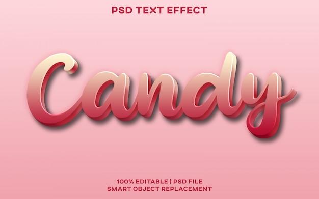 Süßigkeitstext-effekt