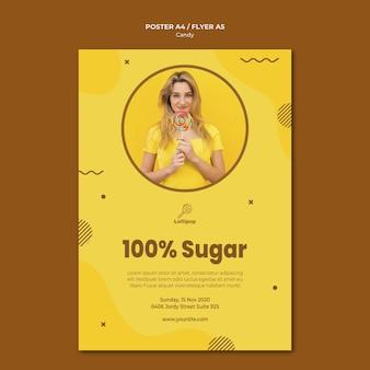 Süßwarenladen vorlage