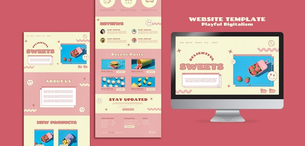 Süßwarenladen-webvorlage