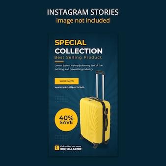 Suitcase sale social media instagram geschichten