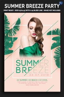 Summer breeze party flyer