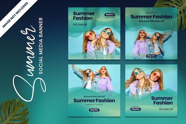 Summer fashion promo social media banner vol1