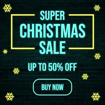 Super christmas sale square banner