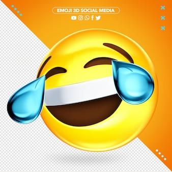 Super fröhliches 3d emoji weinen beim lachen modell